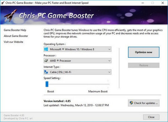 Chris-PC Game Booster 5.10 免费版